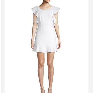 BCBG Ruffled Hem Mini Dress